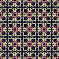 Abstract pattern seamless colorful geometric arabesque style Royalty Free Stock Images