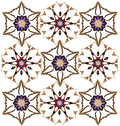 Abstract pattern with stylized flowers Royalty Free Stock Photo