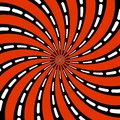 Abstract pattern of stylized spiral psychedelic shape. flat vector