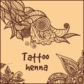 Abstract pattern of a tattoo henna Stock Images