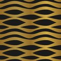 Abstract pattern unusual style golden seamless background. Yellow and black. Royalty Free Stock Photo