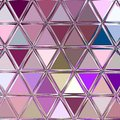 Continuous abstract pattern in vintage colors - repeating geometric triangle mosaic background Royalty Free Stock Photo