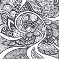 Abstract pattern in zen tangle zen doodle style black on white or texture for coloring page or relax coloring book or wallpaper Stock Image