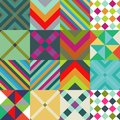 Abstract patterns set with geometric pattern Stock Photography