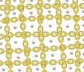 The abstract pearl and chain line on white background. Royalty Free Stock Photo