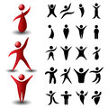 Abstract People Symbol Set