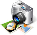 Abstract photo camera Stock Photography