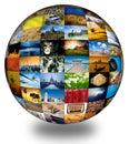 Abstract photography globe Royalty Free Stock Photo
