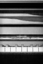 Abstract Piano in Black and White - vertical Royalty Free Stock Photo