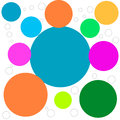 Abstract picture with colored circles