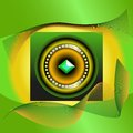 Abstract picture of green jewel image on a brilliant background Stock Photo