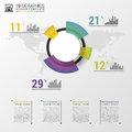 Abstract Pie Chart Graphic For...