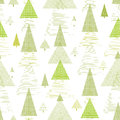 Abstract pine tree forest seamless pattern background with hand drawn elements Stock Photos