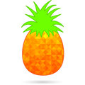 Abstract pineapple on white polygonal design Stock Images