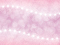 Abstract pink background with boke and stars
