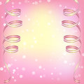 Abstract pink background with ribbons vector illustration Royalty Free Stock Photography