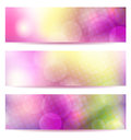 Abstract pink banner set from three banners eps transparency blend mode mesh used Royalty Free Stock Photo