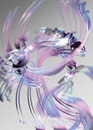 Abstract pink and blue ribbons Stock Images