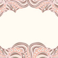 Abstract pink borders with ornament pattern can be used as wallpaper web page background invitation card design etc Royalty Free Stock Images