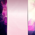 Abstract pink card or invitation template with triangle pattern background and place for text in the center Royalty Free Stock Photos