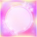 Abstract Pink Card with Round Label Royalty Free Stock Photography