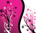 Abstract pink floral background Stock Photos