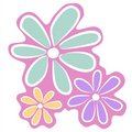 Abstract Pink Flowers Clip Art Royalty Free Stock Photo