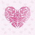 Abstract pink love heart Royalty Free Stock Photography