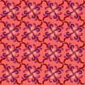 Abstract pink and red floral geometric seamless texture vector background pattern with lightning ornament on background Royalty Free Stock Image