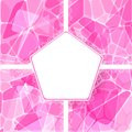 Abstract pink vector geometric card lace label Stock Image
