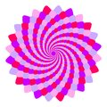 Abstract pink and violet mandala, Flower isolated on white background, Fractal purple and magenta bloom, Esoteric petal mandala Royalty Free Stock Photo