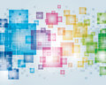 Abstract pixel background a colorful square shaped image Royalty Free Stock Images