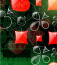 The  abstract play card background Stock Photography
