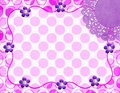 Abstract polka dot doily frame Royalty Free Stock Image
