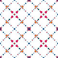 Abstract polka dot retro seamless pattern background Royalty Free Stock Photos