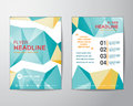 Abstract polygon design vector template layout for magazine broc Royalty Free Stock Photo