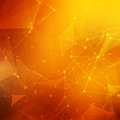 Abstract Polygonal Orange Red ...