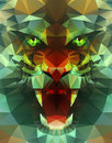 Abstract polygonal tiger Royalty Free Stock Photo