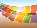 Abstract prayer flags Royalty Free Stock Photo