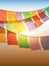 Abstract prayer flags Royalty Free Stock Photos
