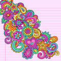 Abstract Psychedelic Notebook Doodles Vector