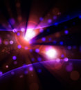 Abstract purple background, blue pink white lights, lens flare Royalty Free Stock Photo