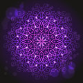 Abstract purple background with a round mandala ornament Royalty Free Stock Photo