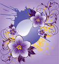 Abstract purple flowers Royalty Free Stock Images