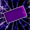 Abstract Purple Grunge Frame Stock Photography