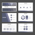 Abstract Purple presentation templates Infographic elements flat design set for brochure flyer leaflet marketing Royalty Free Stock Photo