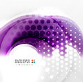 Abstract purple swirl design this is file of eps format Stock Photos