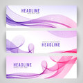 Abstract purple wave  on white background Royalty Free Stock Photo