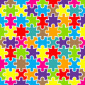 Abstract puzzle background with colorful pieces Royalty Free Stock Photo