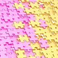 Abstract puzzle background composition Royalty Free Stock Photo